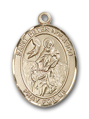 14K Gold St. Peter Nolasco Pendant