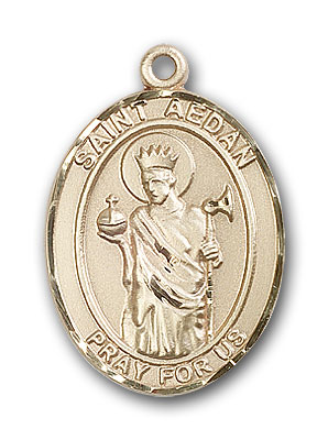 14K Gold St. Aedan of Ferns Pendant