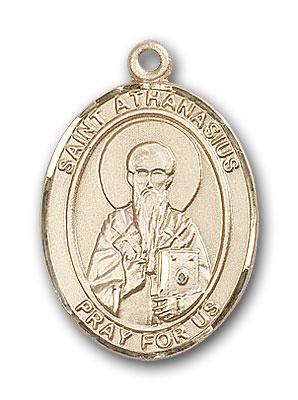 14K Gold St. Athanasius Pendant
