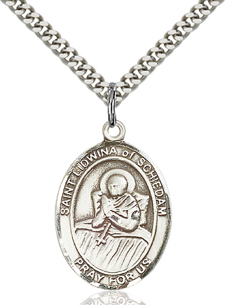 Sterling Silver St. Lidwina of Schiedam Pendant