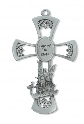 "6"" Pewter Baptism Cross"