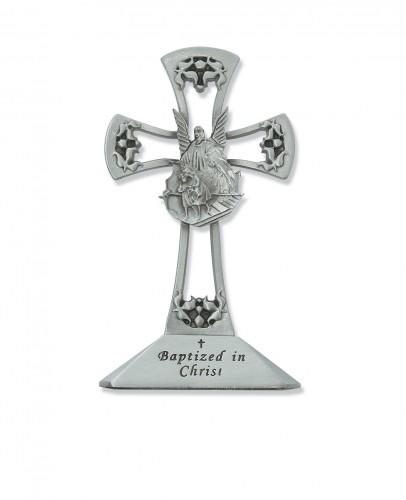 "4"" Pewter Stng Baptism Cross"