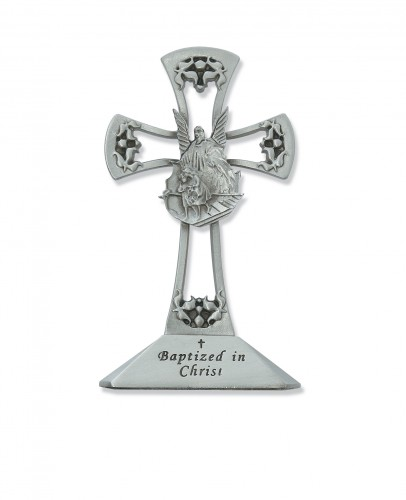 "4"" Pewter Stng Baptism Cross"