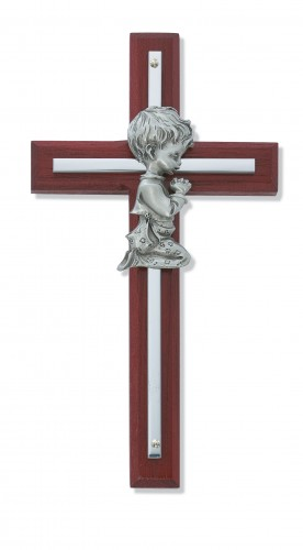 "6"" Cherry Boy Cross Silver"