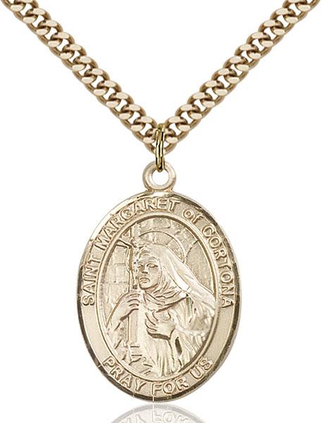 Gold-Filled St. Margaret of Cortona Pendant