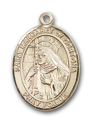 14K Gold St. Margaret of Cortona Pendant