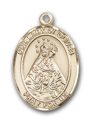 14K Gold OUR LADY of Olives Pendant
