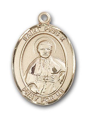 Gold-Filled St. Pius X Pendant