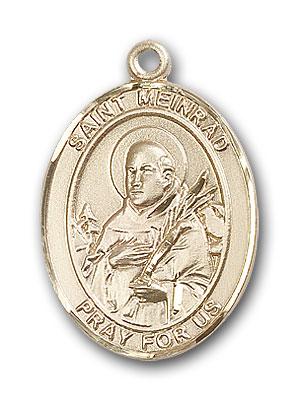 14K Gold St. Meinrad of Einsideln Pendant