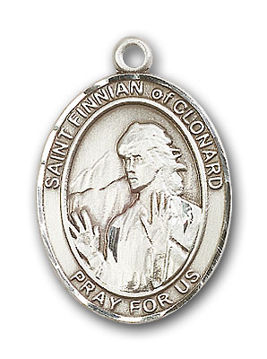Sterling Silver St. Finnian of Clonard Pendant