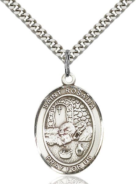 Sterling Silver St. Rosalia Pendant