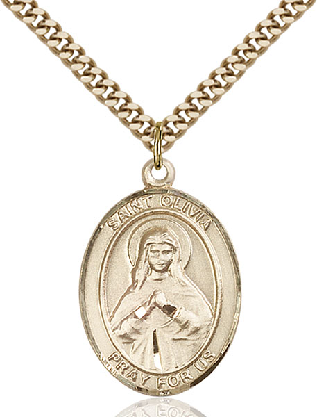 Gold-Filled St. Olivia Pendant