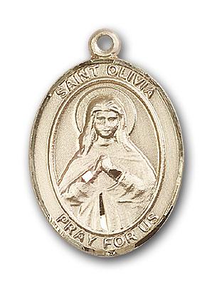 14K Gold St. Olivia Pendant