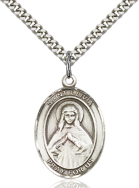 Sterling Silver St. Olivia Pendant