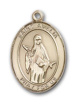 14K Gold St. Amelia Pendant