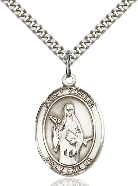 Sterling Silver St. Amelia Pendant