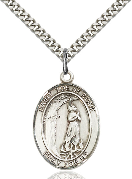 Sterling Silver St. Zoe of Rome Pendant