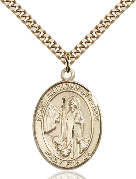 Gold-Filled St. Anthony of Egypt Pendant