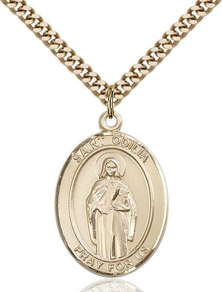 Gold-Filled St. Odilia Pendant