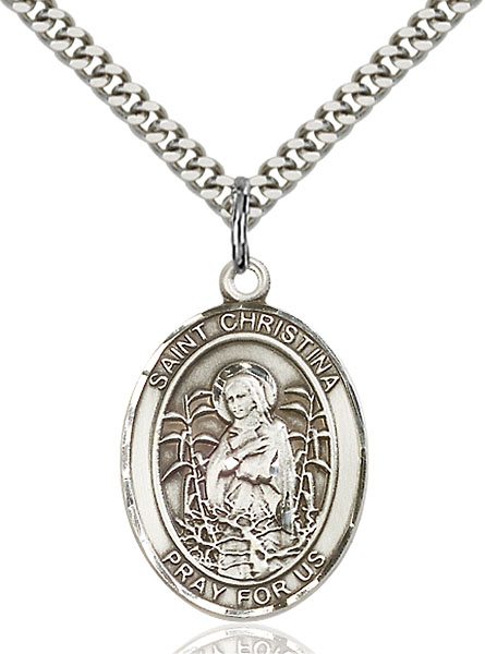 Sterling Silver St. Christina the Astonishing Pend