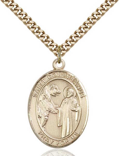 Gold-Filled St. Columbanus Pendant