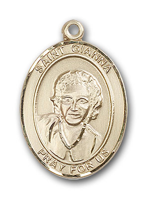 Gold-Filled St. Gianna Pendant