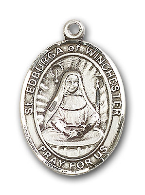 Sterling Silver St. Edburga of Winchester Pendant