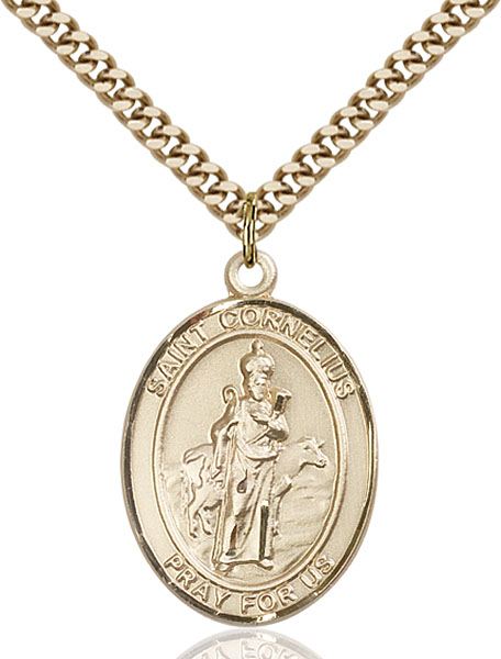 Gold-Filled St. Cornelius Pendant