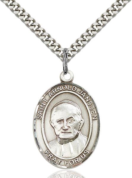 Sterling Silver St. Arnold Janssen Pendant