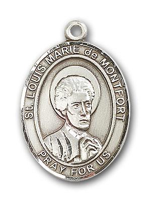 Sterling Silver St. Louis Marie de Montfort Pendan