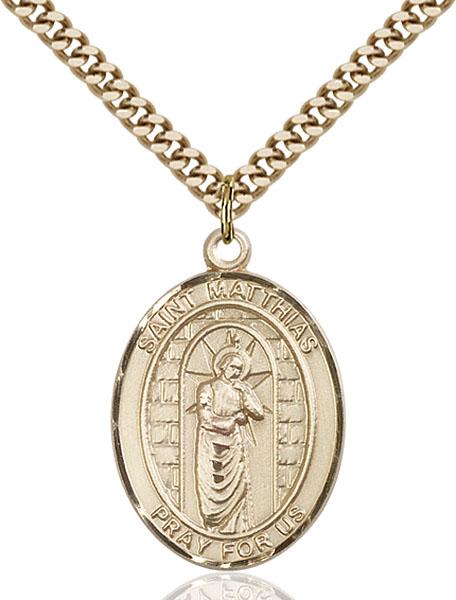 Gold-Filled St. Matthias the Apostle Pendant