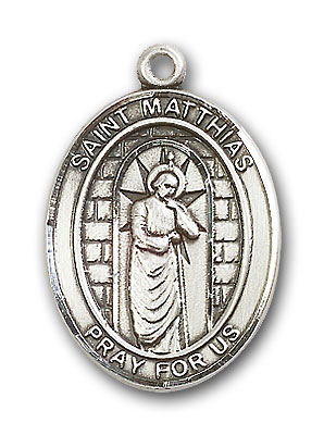Sterling Silver St. Matthias the Apostle Pendant