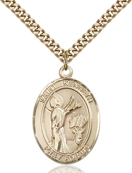 Gold-Filled St. Kenneth Pendant