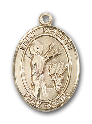 14K Gold St. Kenneth Pendant