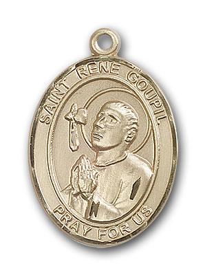 Gold-Filled St. Rene Goupil Pendant