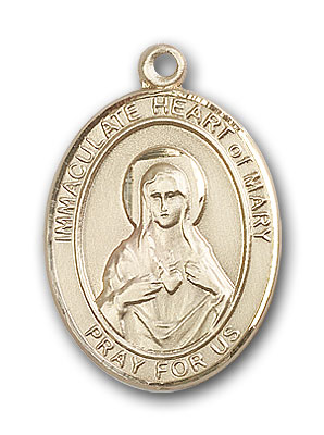 Gold-Filled Immaculate Heart of Mary Pendant