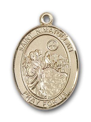 14K Gold St. Nimatullah Pendant