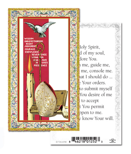 100-Pack - Confirmation Holy Spirit Holy Card