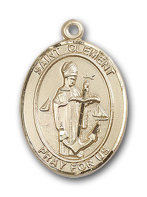 14K Gold St. Clement Pendant