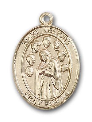 14K Gold St. Felicity Pendant