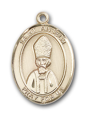 14K Gold St. Anselm of Canterbury Pendant