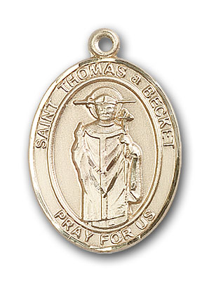 Gold-Filled St. Thomas A Becket Pendant