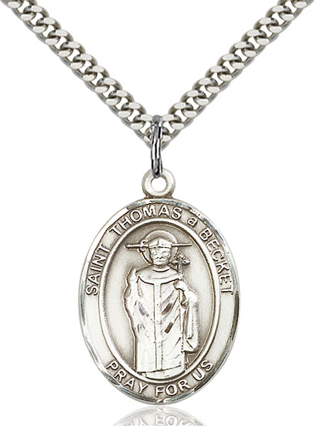 Sterling Silver St. Thomas A Becket Pendant