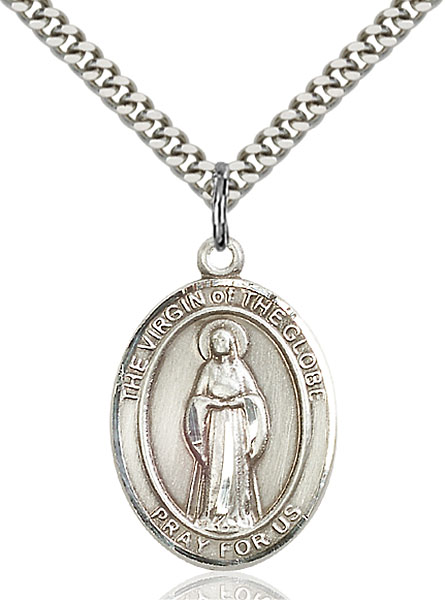 Sterling Silver Virgin of the Globe Pendant