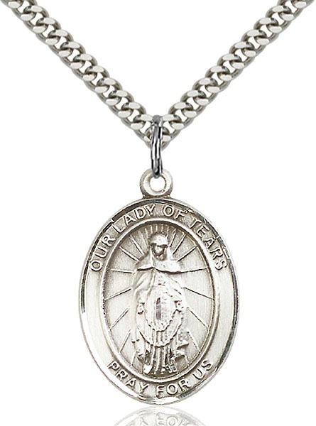Sterling Silver Our Lady of Tears Pendant