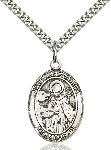 Sterling Silver St. Januarius Pendant