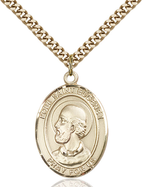 Gold-Filled Pope Saint Eugene I Pendant
