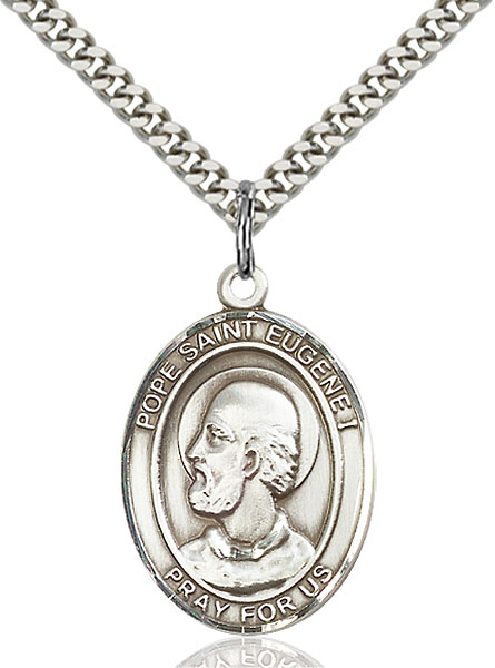 Sterling Silver Pope Saint Eugene I Pendant