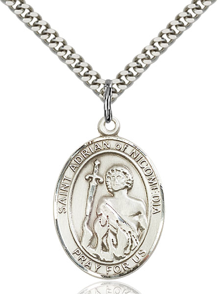 Sterling Silver St. Adrian of Nicomedia Pendant