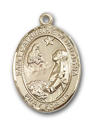 14K Gold St. Catherine of Bologna Pendant